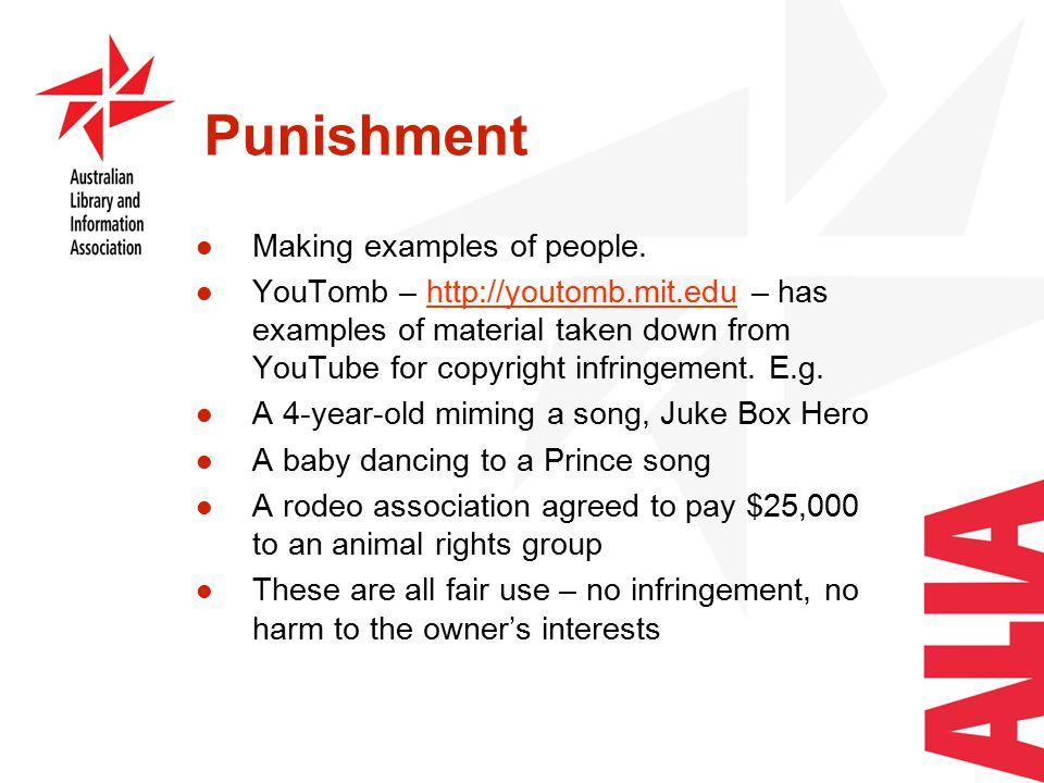 Punishment Making examples of people.