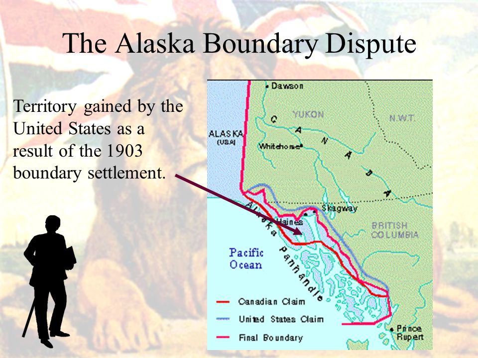 The Alaska Boundary Dispute Territory gained by the United States as a result of the 1903 boundary settlement.