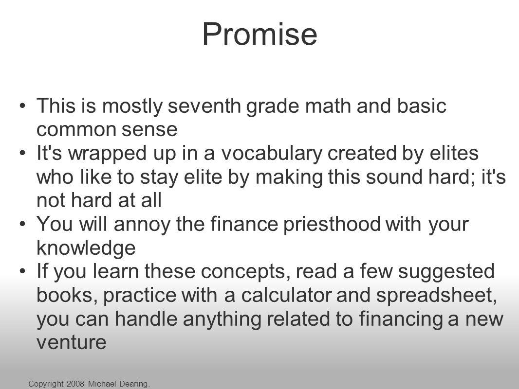 Agenda I.Five Basic Concepts II. Four Nouns III.