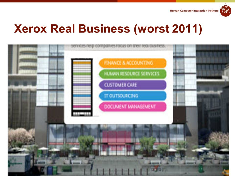Xerox Real Business (worst 2011) 64