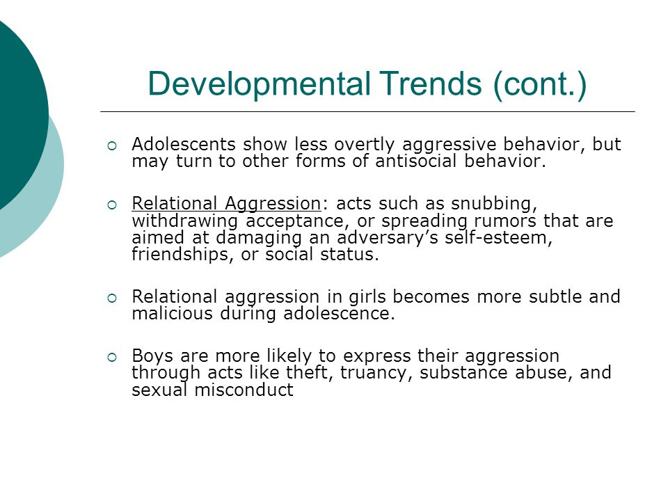 Coercive Home Environments as Contributors to Chronic Delinquency Preschool Years  Develop hostile attribution biases  Defiant  Aggressive behavior  General lack of self resistance Pre-Adolescence  Rejection by school peers  Criticized by teachers  Poor academics  Poor attendance  Exposure to other deviant groups