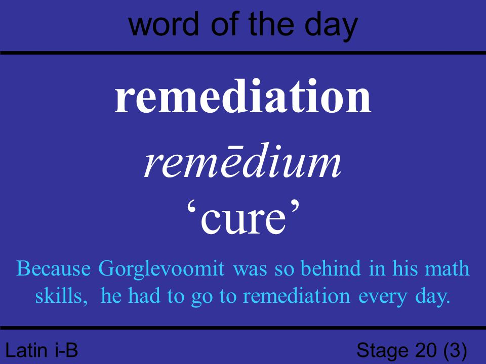Latin i-B Stage 20 (4) word of the day relinquish relinquō, relinquere, relīquī 'leave, abandon' Even though the ruler was defeated in the election, he was unwilling to relinquish power.