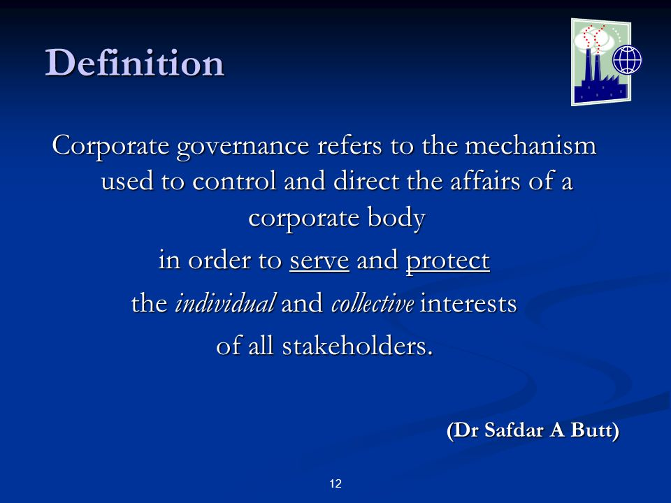 13 Governance & Management How do these terms differ.