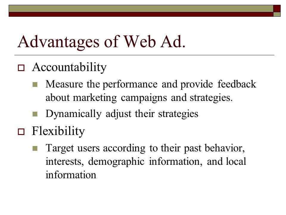 Advantages of Web Ad.