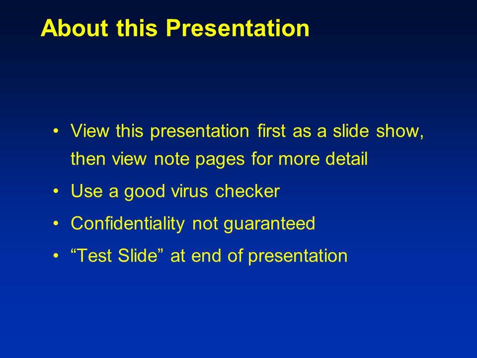 Mandatory Slides Title slide (logo permitted here) Purpose (of your work) slide Outline slide (of your talk, not your paper) Detail slides (ie slides 4-24) go here Conclusion slide