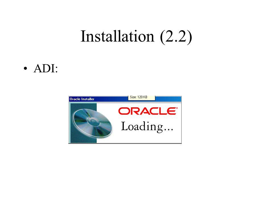 Installation (2.2) ADI: