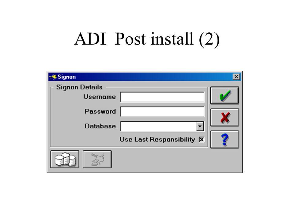 ADI Post install (2)