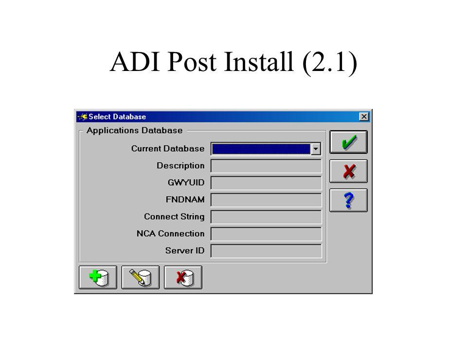 ADI Post Install (2.1)