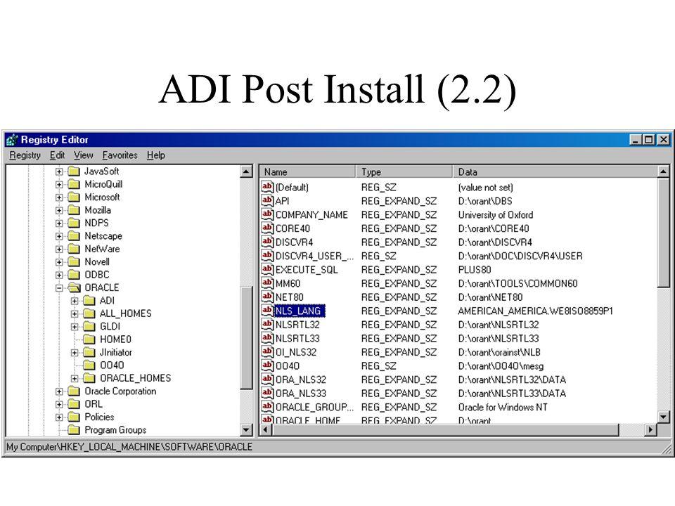 ADI Post Install (2.2)