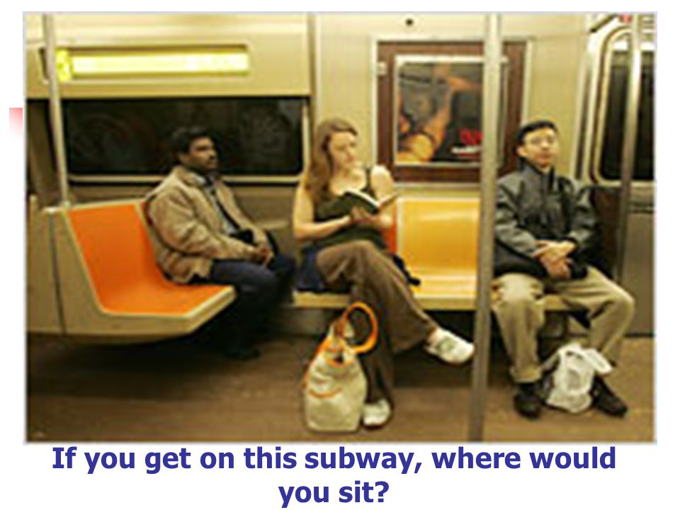 If you get on this subway, where would you sit?