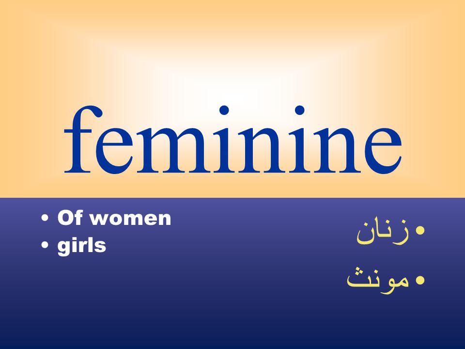 feminine Of women girls زنان مونث