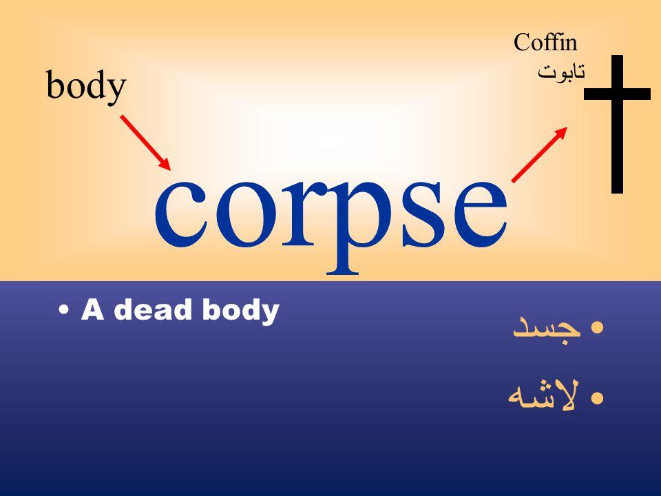 corpse A dead body جسد لاشه body Coffin تابوت