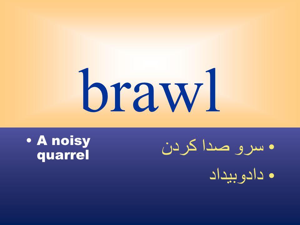 brawl A noisy quarrel سرو صدا كردن دادوبيداد