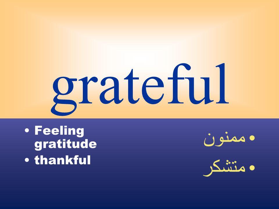 grateful Feeling gratitude thankful ممنون متشكر