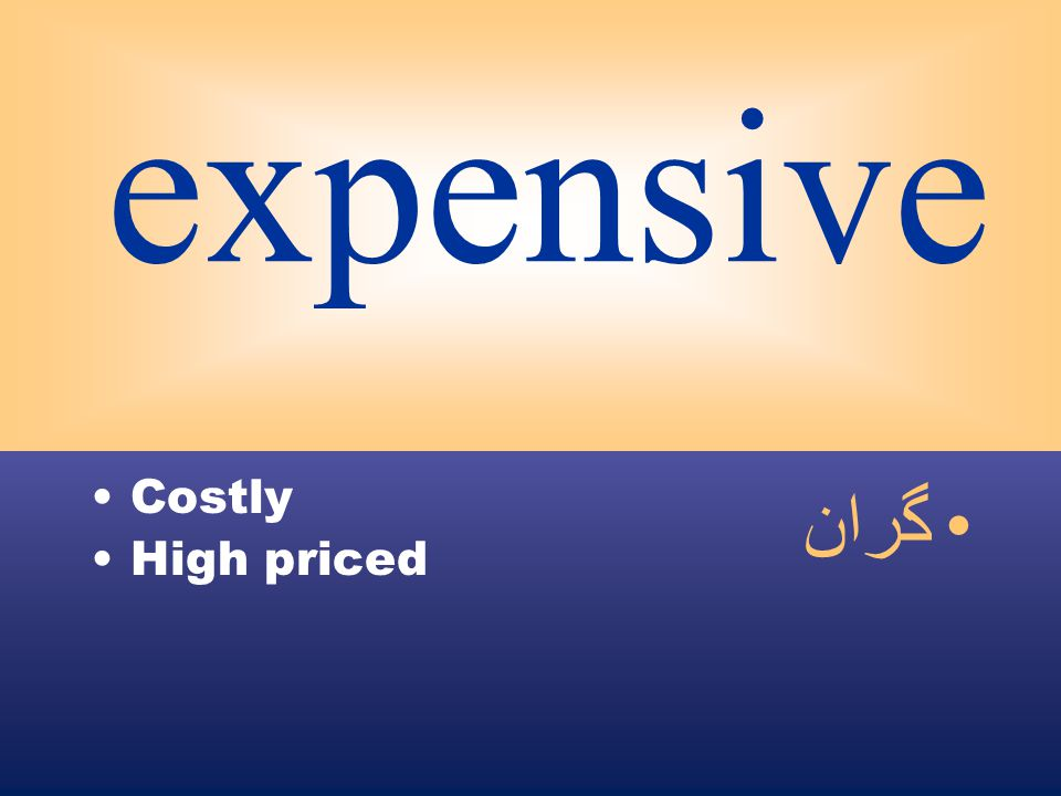 expensive Costly High priced گران
