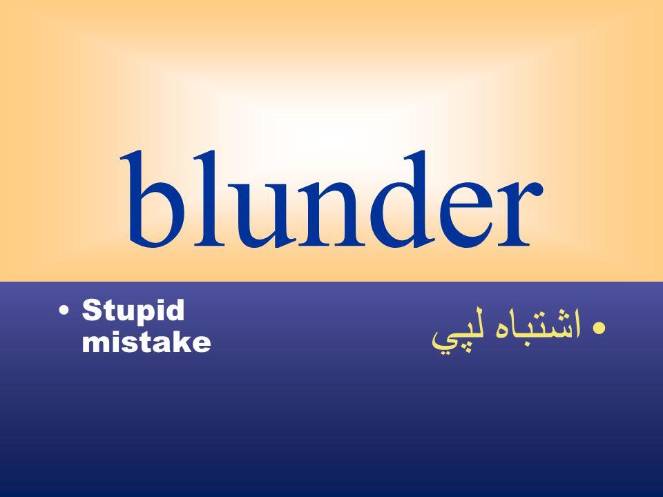 blunder Stupid mistake اشتباه لپي