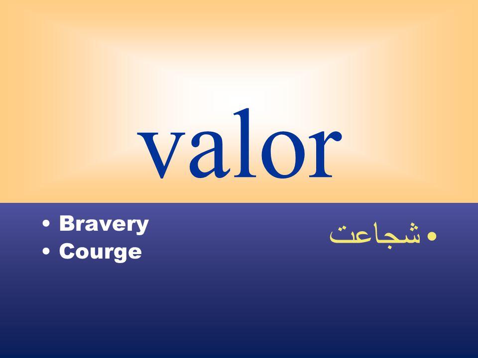 valor Bravery Courge شجاعت