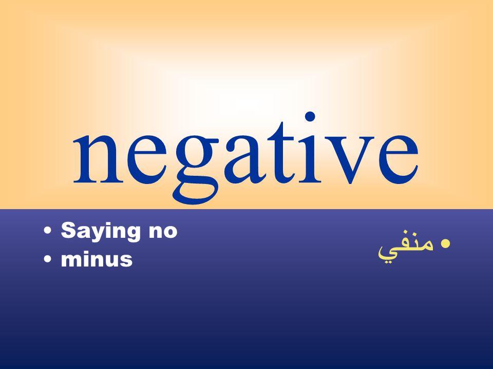negative Saying no minus منفي