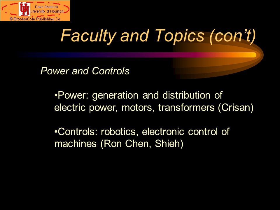 Faculty and Topics Electromagnetics and Solid State EM: antenna theory, propagation and transmission of electromagnetic signals (Jackson, Williams, Wi