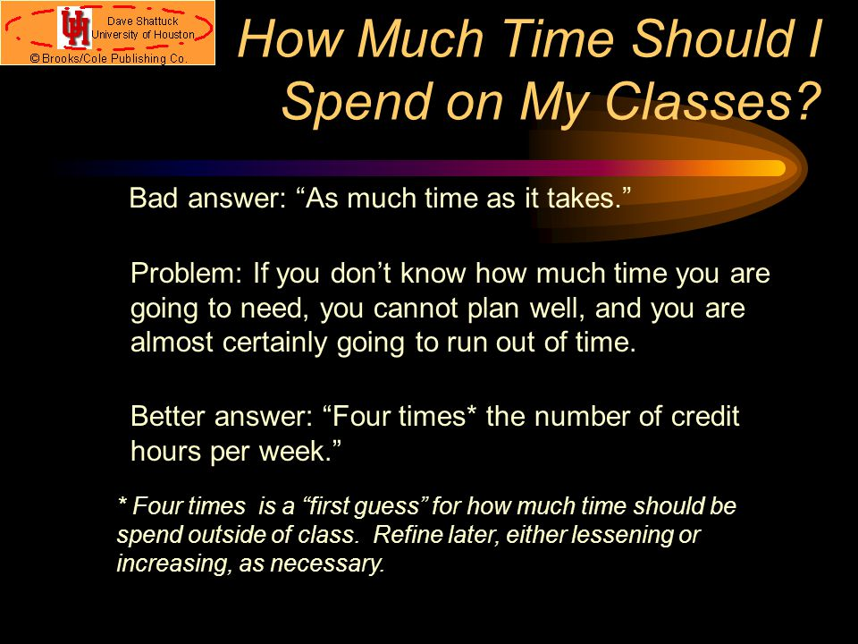 Time Management Students have trouble getting everything done, because… They often don't know how to budget their time; They are over-committed. Both