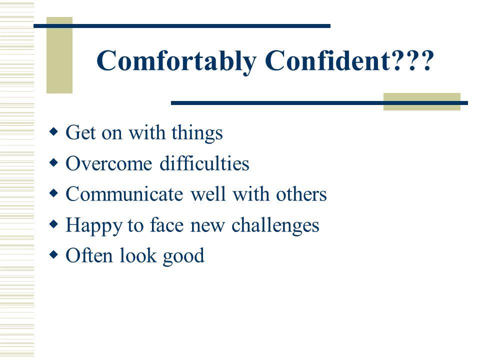 Comfortably Confident??.