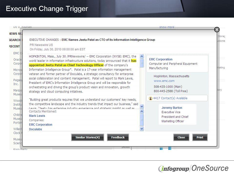 Executive Change Trigger