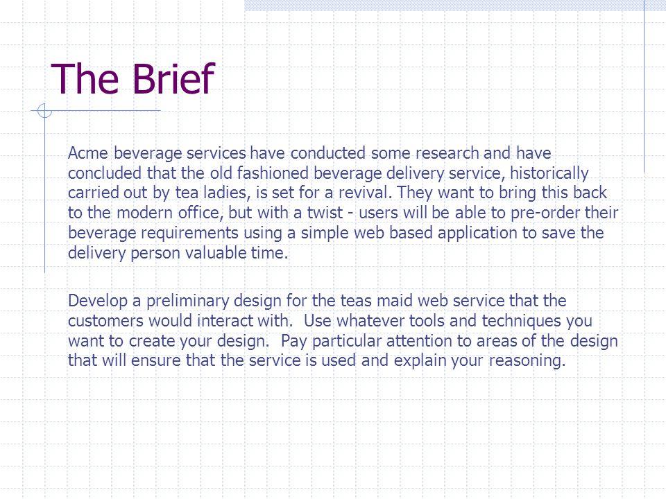 Design Method 1.Gather user requirements 2. Write functional spec & design goals 3.