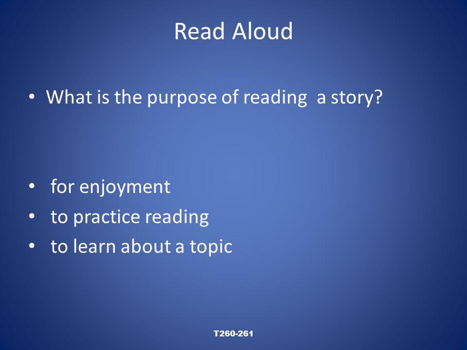 Read Aloud T260-261