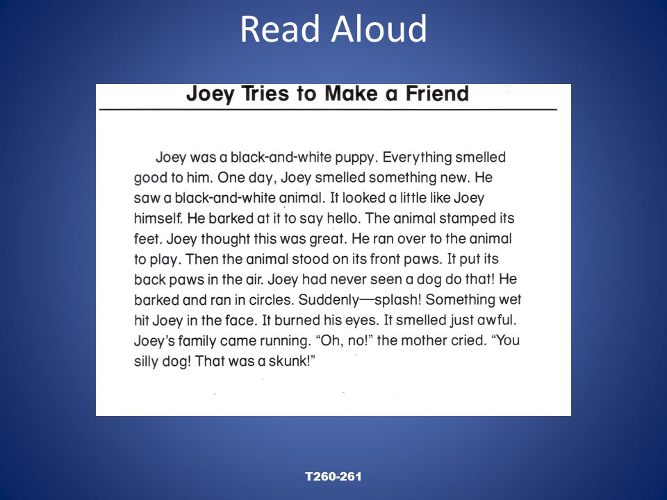 Read Aloud T260-261