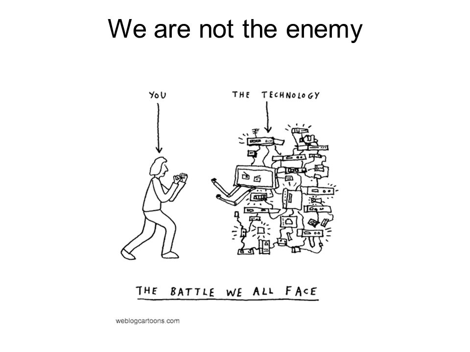 We are not the enemy