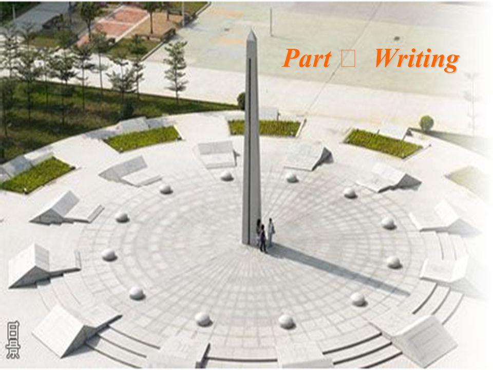 Part Ⅳ Writing