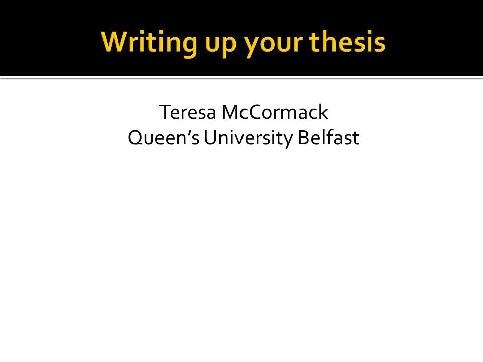 Teresa McCormack Queen's University Belfast