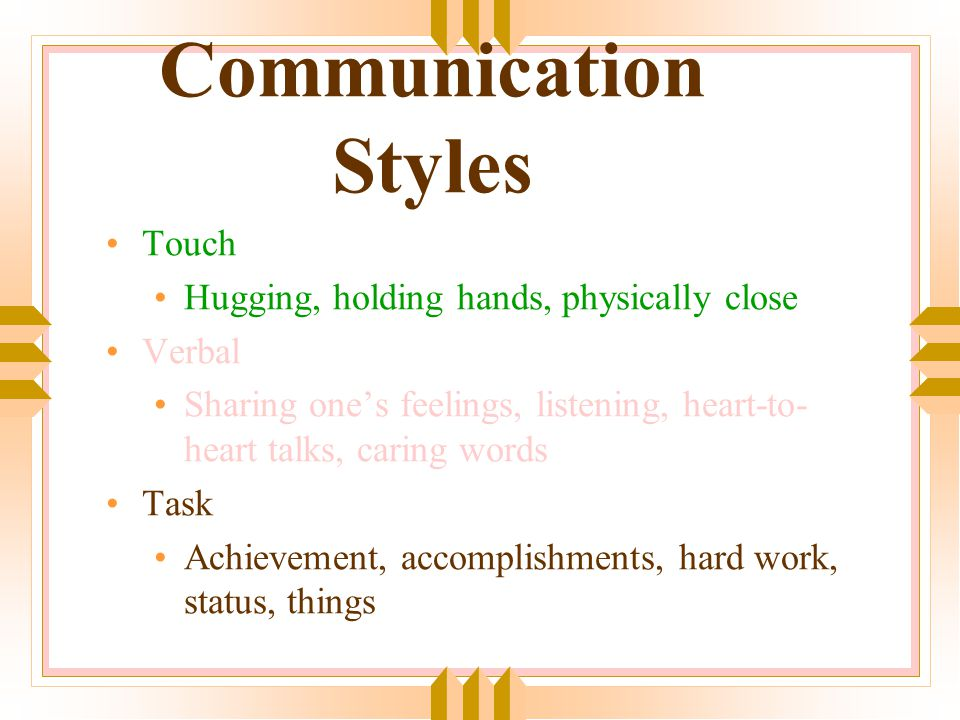 Basic Steps to Validation Acknowledging the other person's feelings Identifying the feelings Offering to listen Helping them label the feelings Being