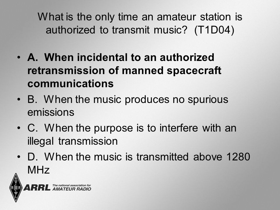 What is the only time an amateur station is authorized to transmit music.