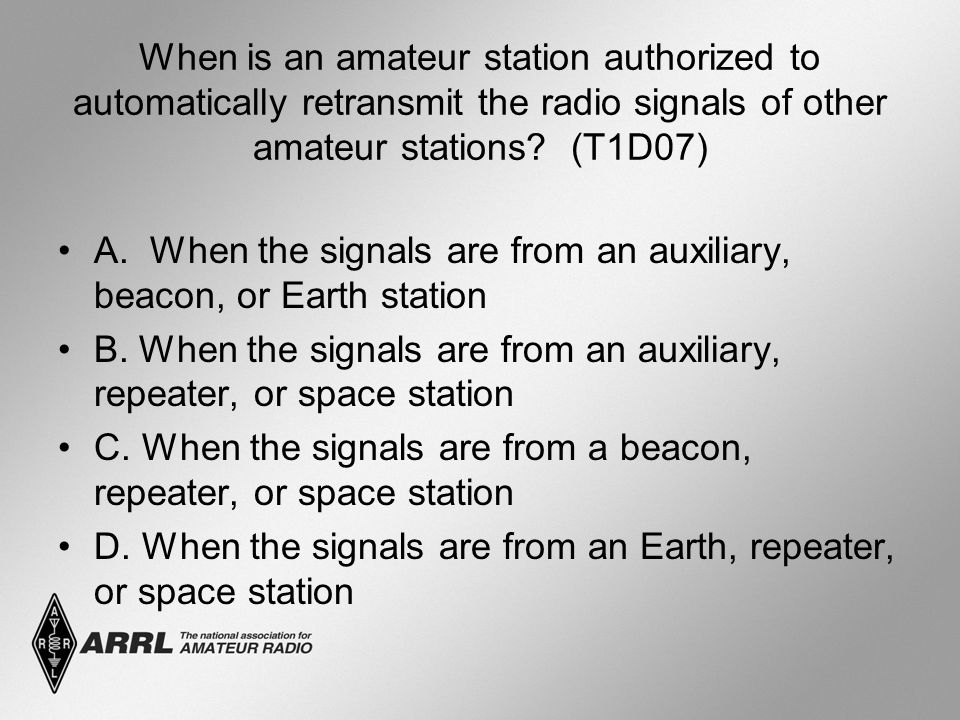 When is an amateur station authorized to automatically retransmit the radio signals of other amateur stations.