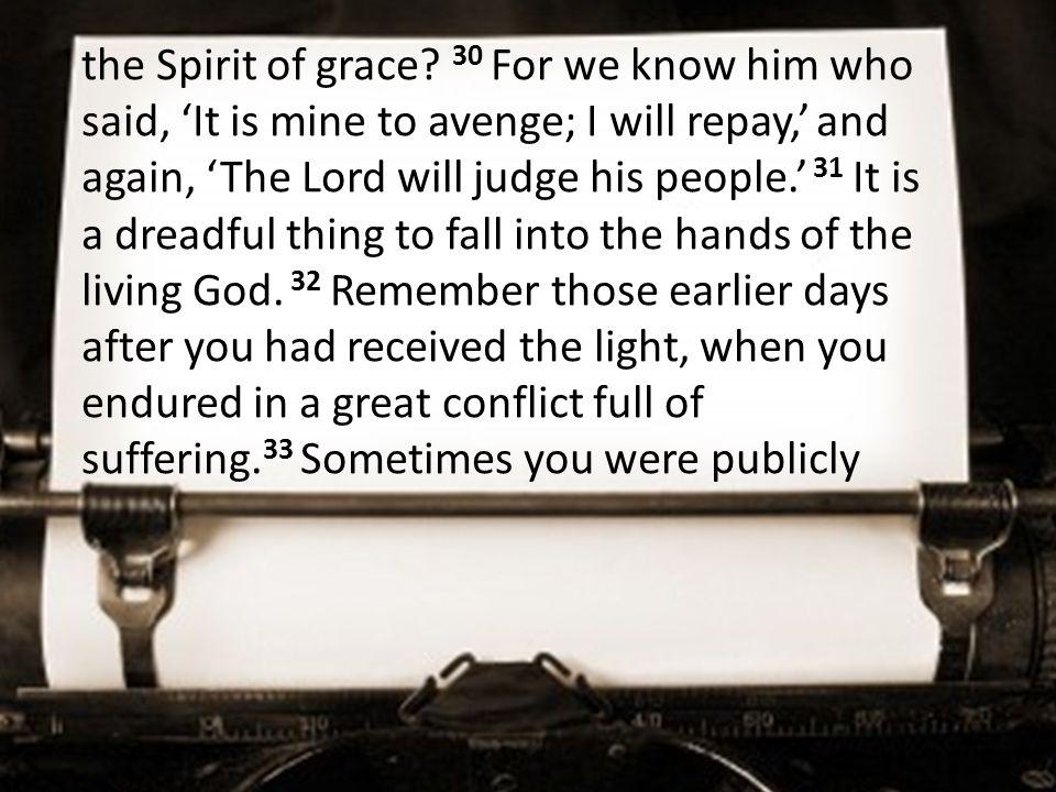 the Spirit of grace.