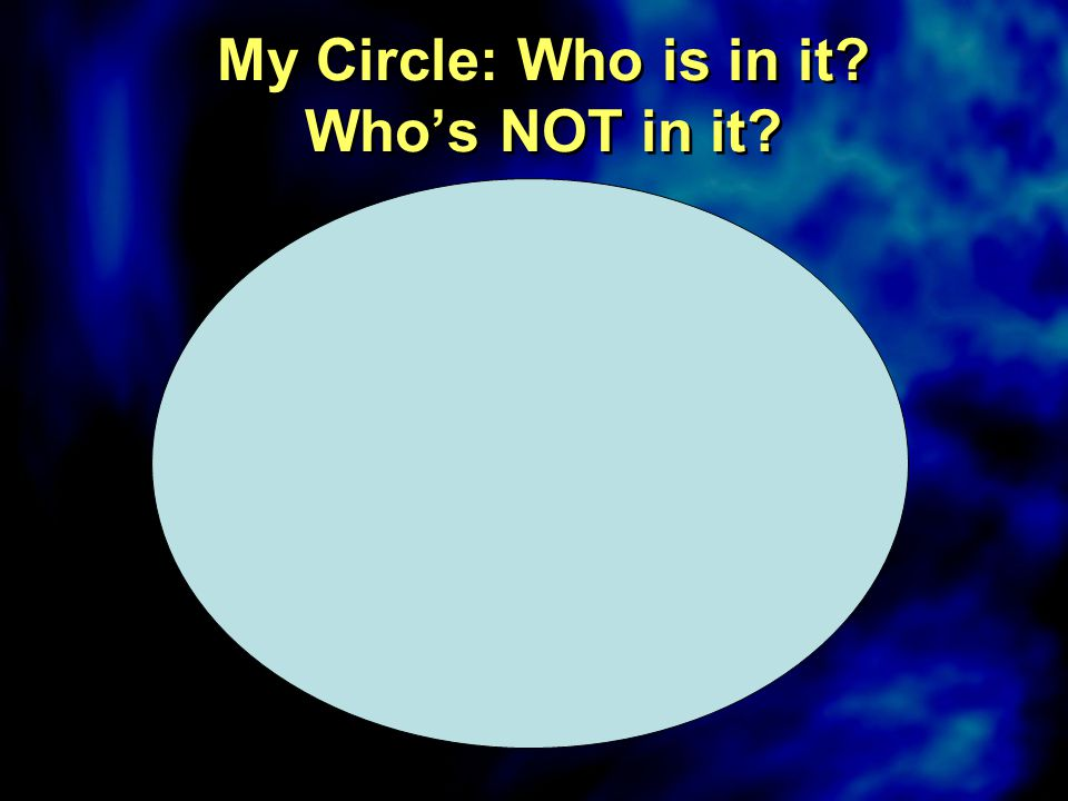 My Circle: Who is in it? Who's NOT in it?