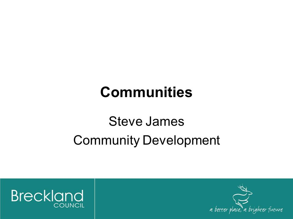 Communities Steve James Community Development