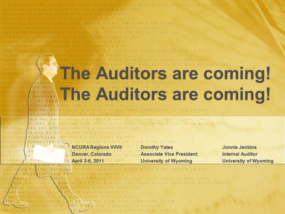 The Auditors are coming!The Auditors are coming.