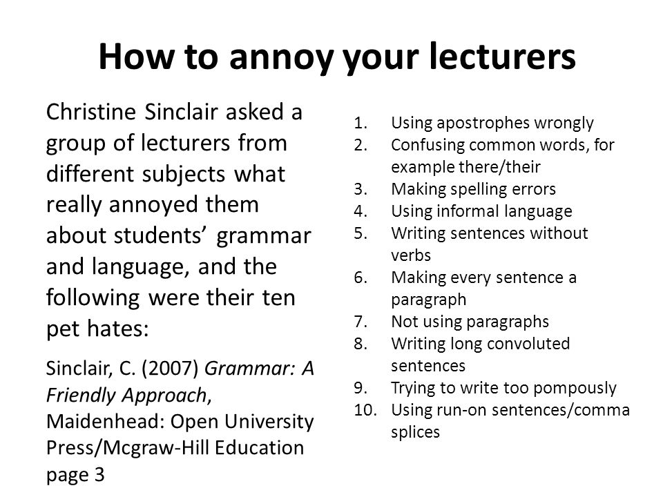 Useful reading for academic writing Cottrell, S.
