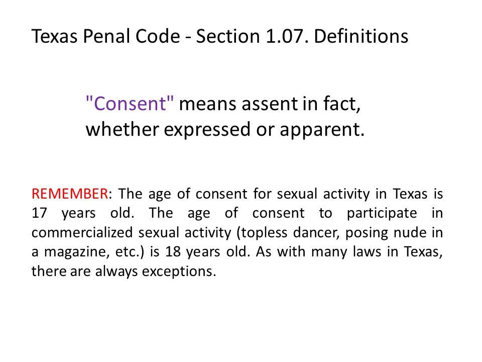 Texas Penal Code - Section 1.07.