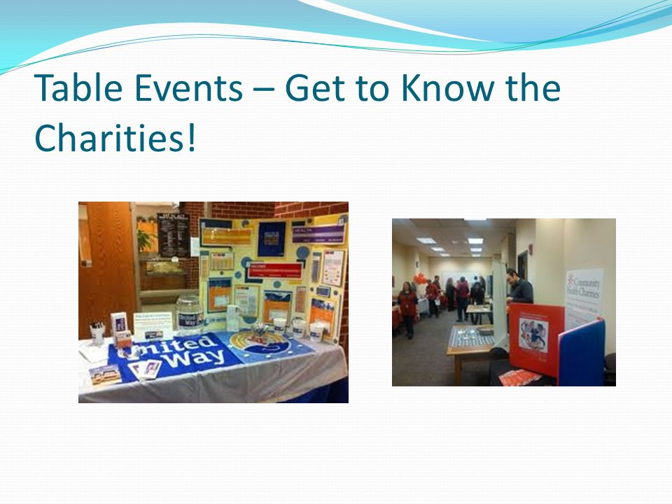 Table Events – Get to Know the Charities!