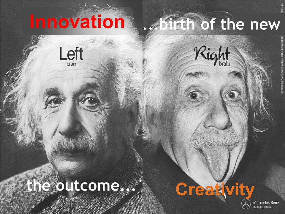the outcome... Innovation Creativity...birth of the new