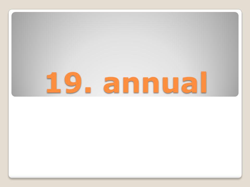 19. annual