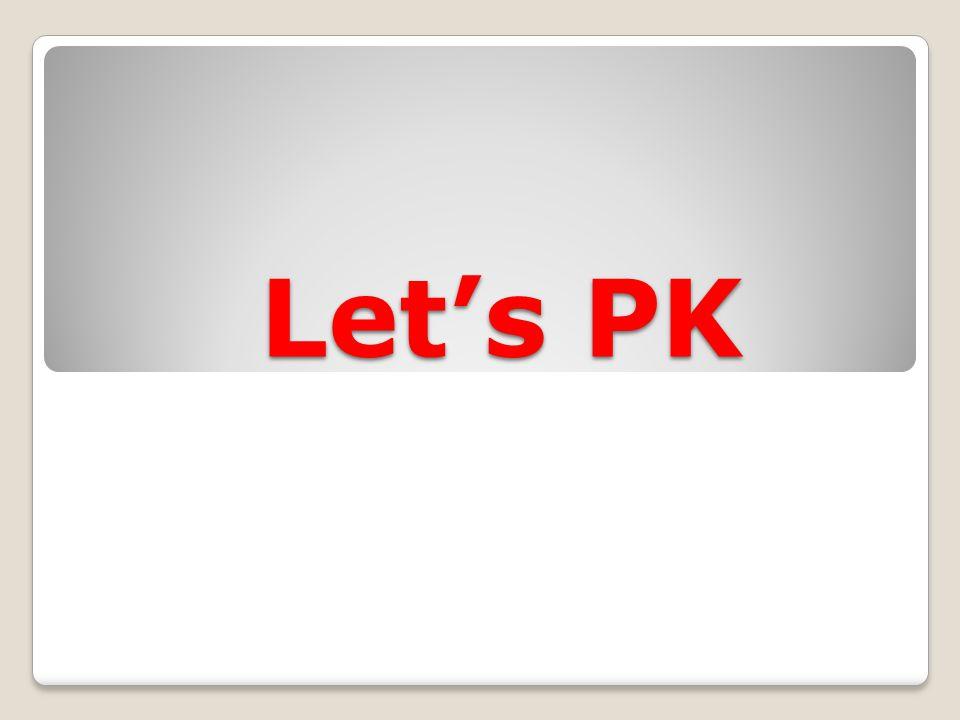 Let's PK Let's PK