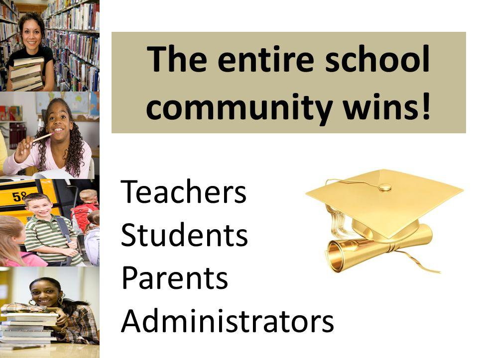 The entire school community wins! Teachers Students Parents Administrators
