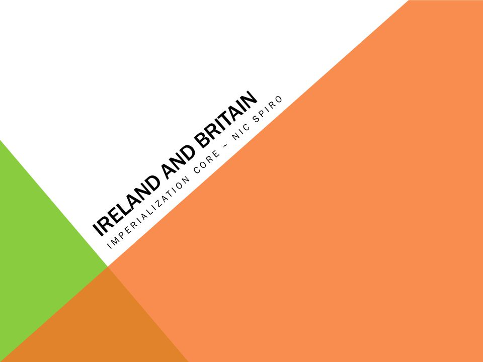 IRELAND AND BRITAIN IMPERIALIZATION CORE ~ NIC SPIRO