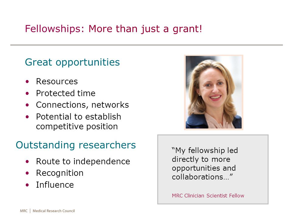 Fellowships: More than just a grant.