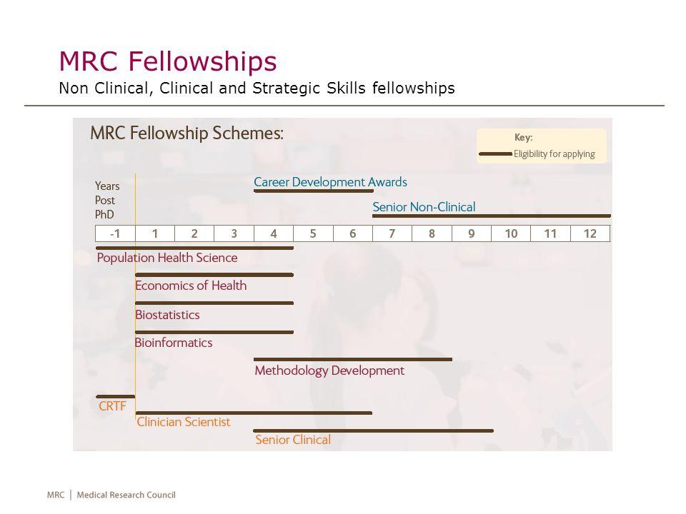 MRC Fellowships Non Clinical, Clinical and Strategic Skills fellowships
