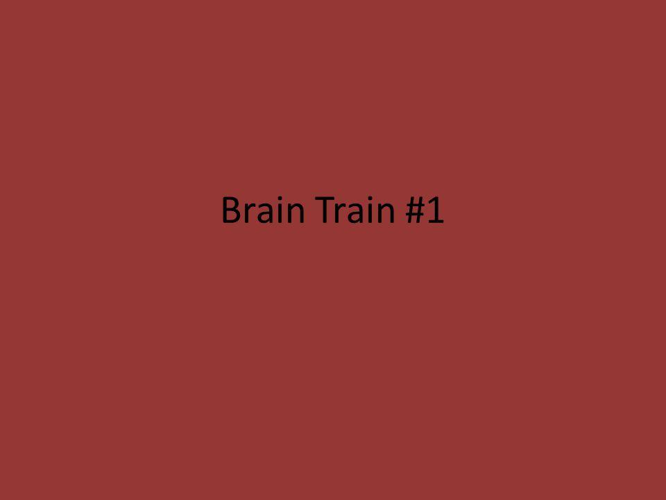 Brain Train #1